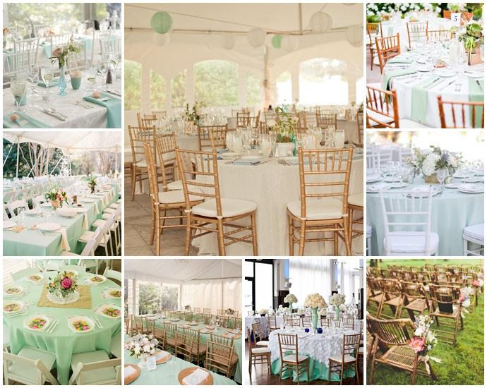Mon mariage menthe l 39 eau et notes exotiques for Decoration mariage vert d eau