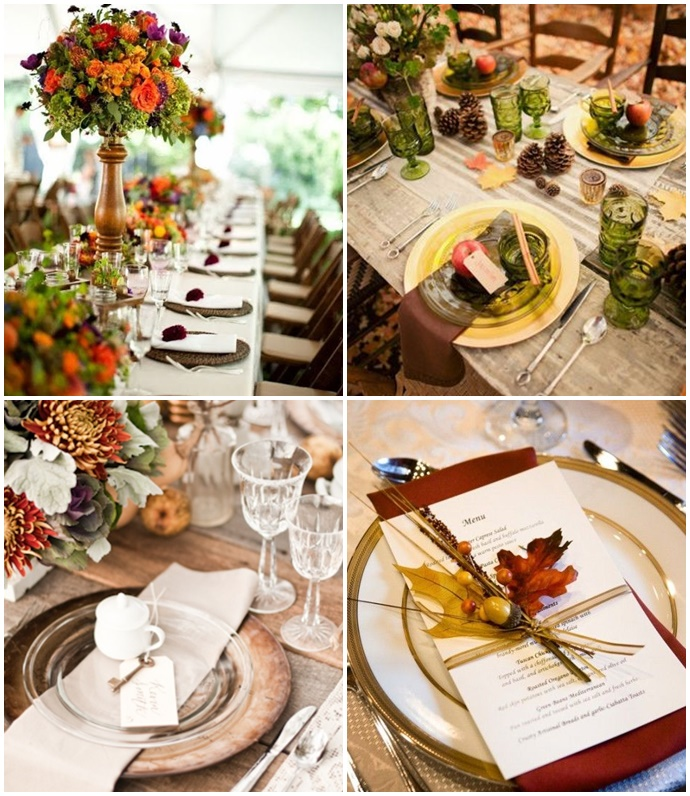 Comment d core t on un mariage d 39 automne for Centre de table automne