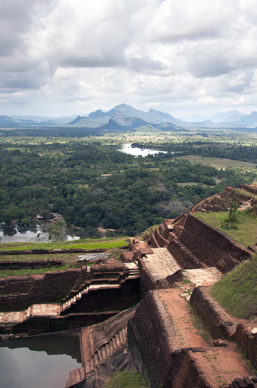 Vue du sommet de Sigiriya
