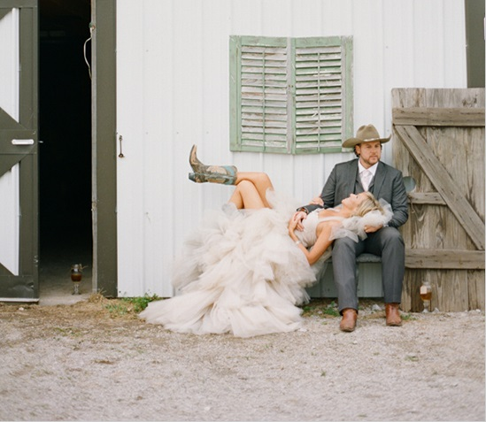 Mon mariage country chic for Bottes de cowgirl robe de mariage