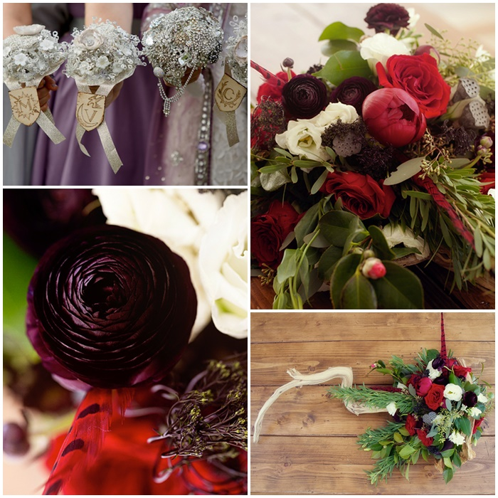 Mariage-Game-of-thrones-bouquets
