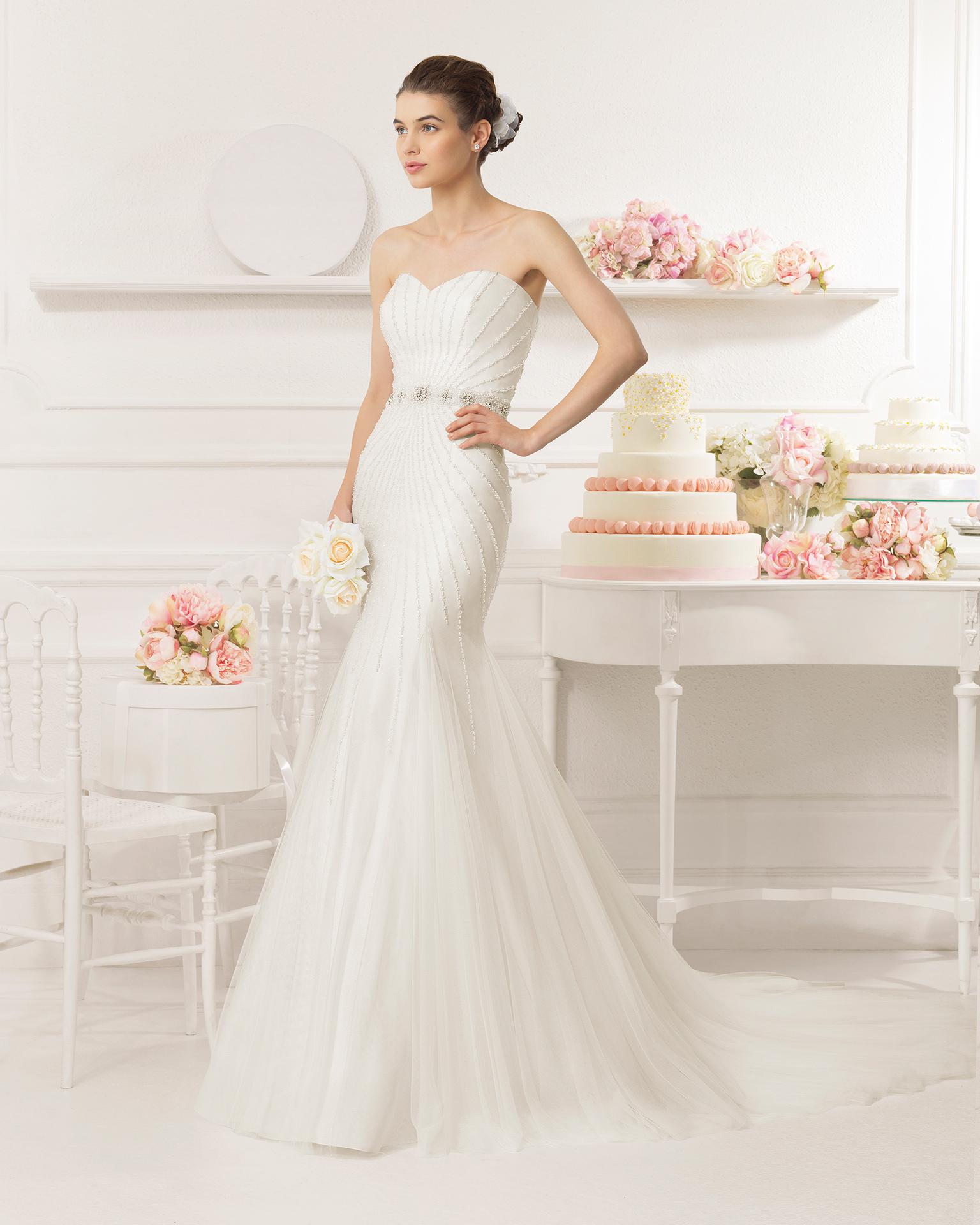 Aire Barcelona créé une robe sublime et élégante pour être la plus belle le  Jour J