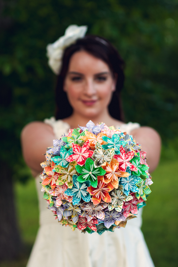 DIY Mariage bouquet papier 1