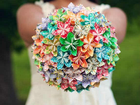 DIY  mon bouquet de mariée tout en origami , Mariage.com