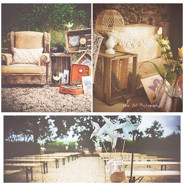le mariage vintage de dorian et marianne. Black Bedroom Furniture Sets. Home Design Ideas