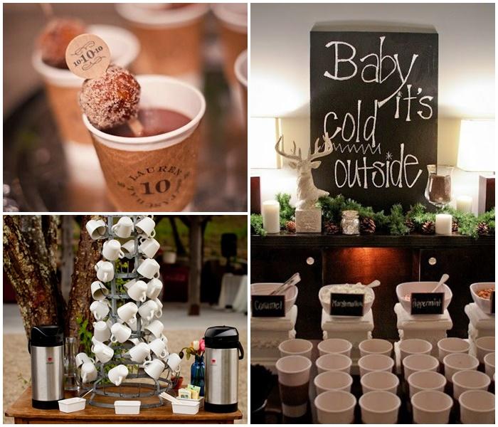 Repas de mariage hivernal