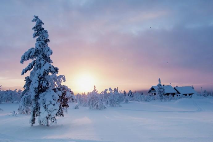 Sunset, Saariselka