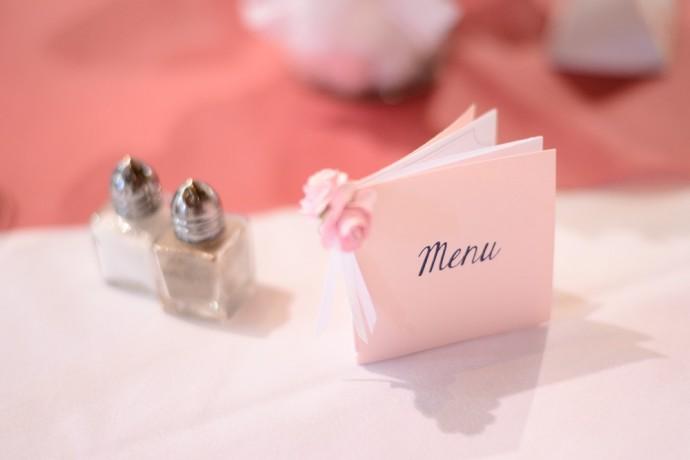 Le mariage rose poudr de st phanie et j r me - Deco mariage rose poudre ...
