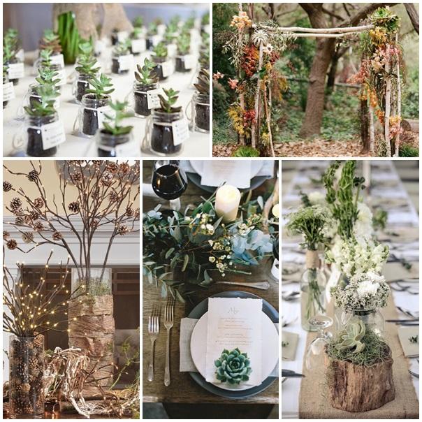 Promenons nous dans les bois pour trouver de la d coration de mariage maria - Decoration nature mariage ...