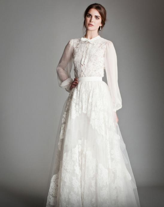 la tendance mariage pour 2015 les robes de mari e On robe de mariage à manches bouffantes