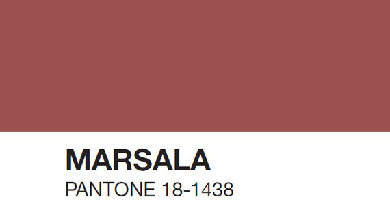 Mariage Pantone Marsala Une