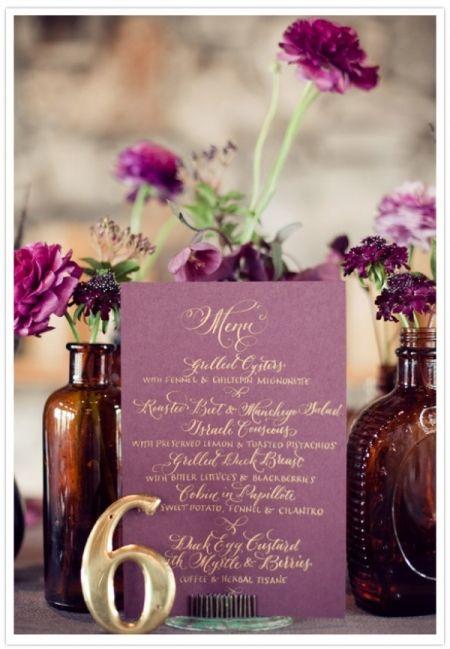 Mariage Pantone menu
