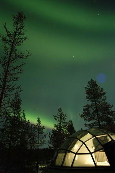 aurore boreales lune de miel finlande