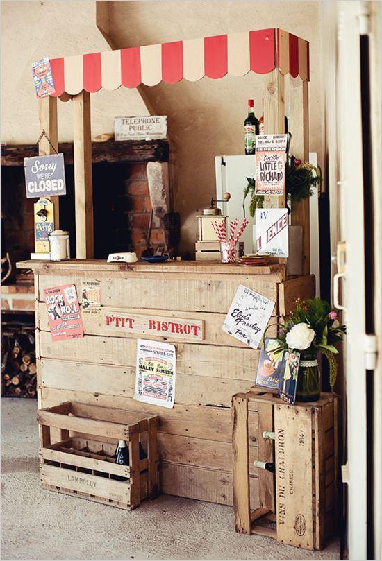 fabriquer un bistrot pour son mariage pourquoi pas. Black Bedroom Furniture Sets. Home Design Ideas