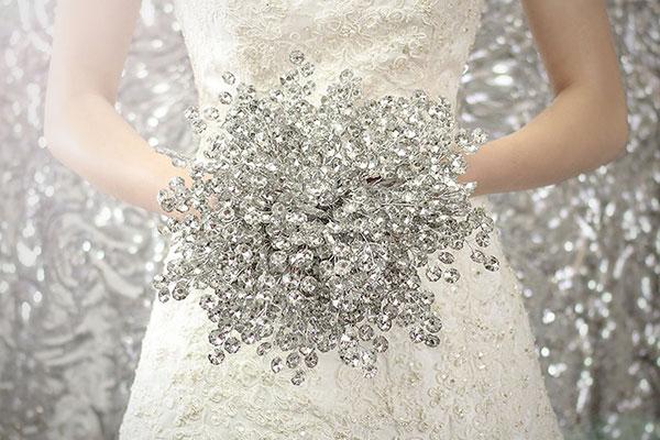 bouquet de mariee en bijou