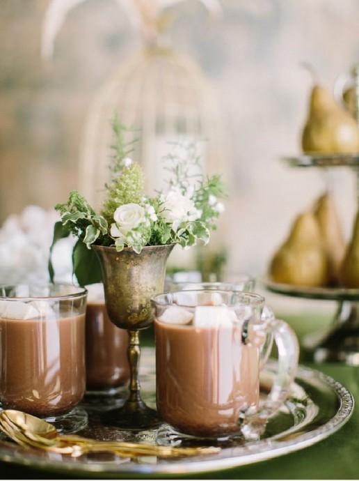 chocolat chaud pour rechauffer les invites
