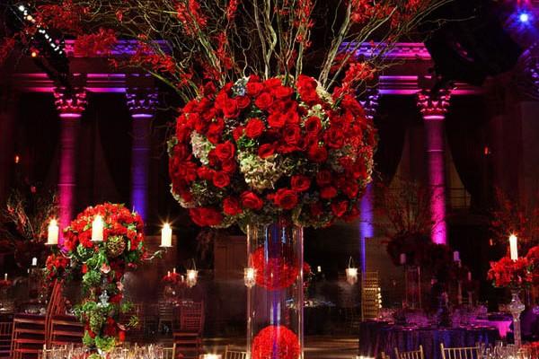 decoration de mariage en rouge Fred Marcus Studio Created by Tantawan Bloom