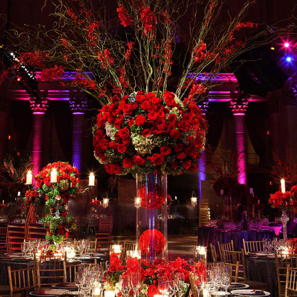 decoration de mariage en rouge Fred Marcus Studio Created by Tantawan Bloom