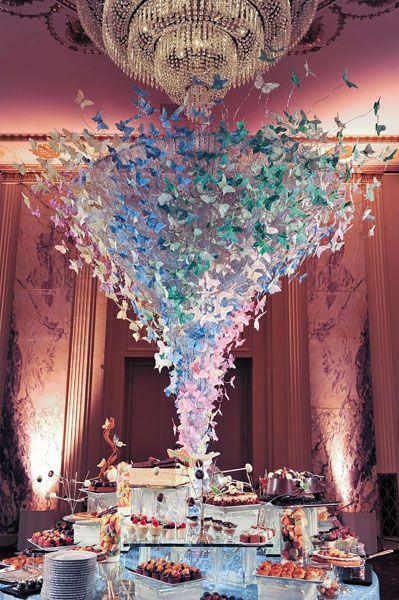 decoration de mariage pour la table des desserts