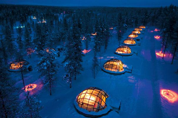 diner romantique lune de miel finlande igloo