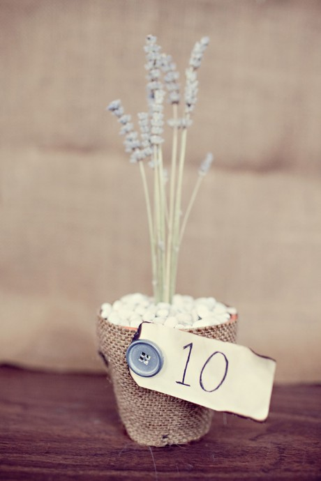 diy bouquet de lavande numero de table