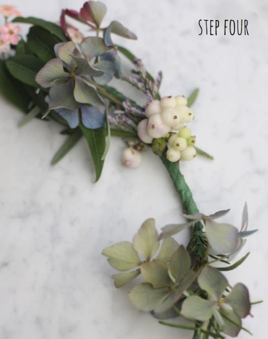 diy couronne de fleurs headband mariee