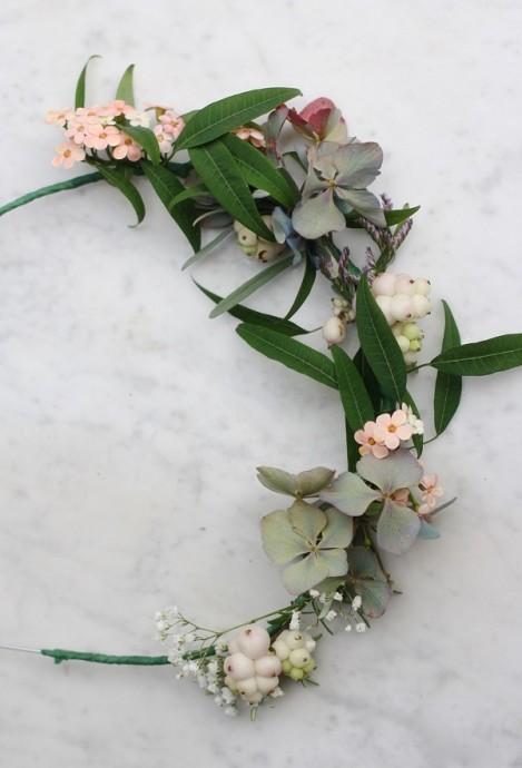 diy couronne de fleurs mariage