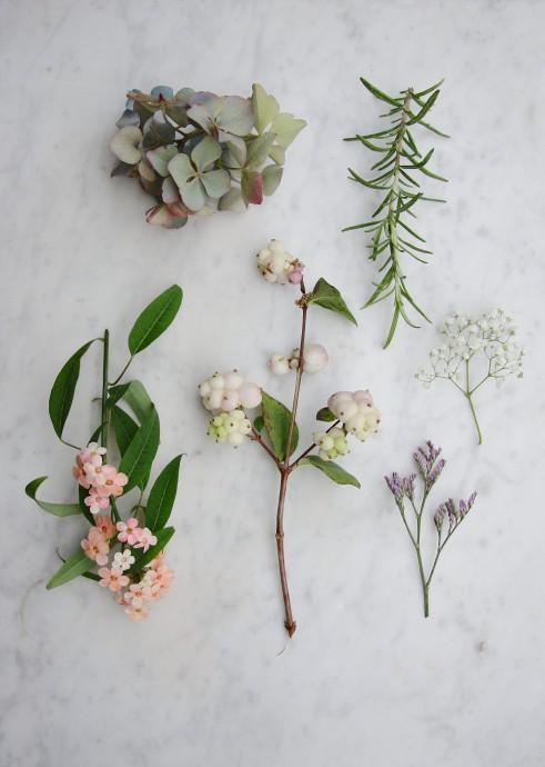 ... de fer des fleurs fraîches type lavande hydrangeas fleur de romarin