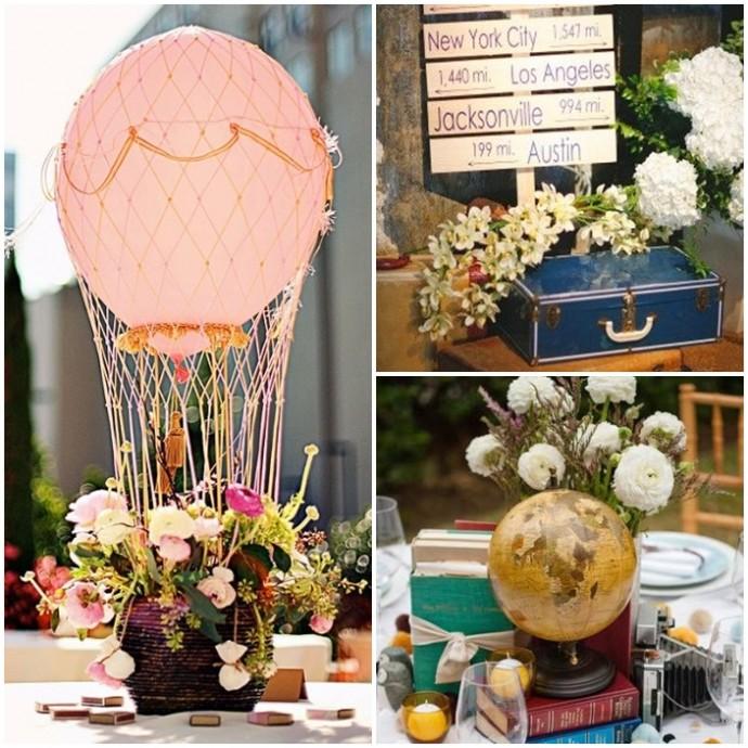 Mon mariage invitation au voyage - Decoration table mariage theme voyage ...