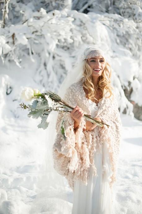 la mariee boheme en hiver