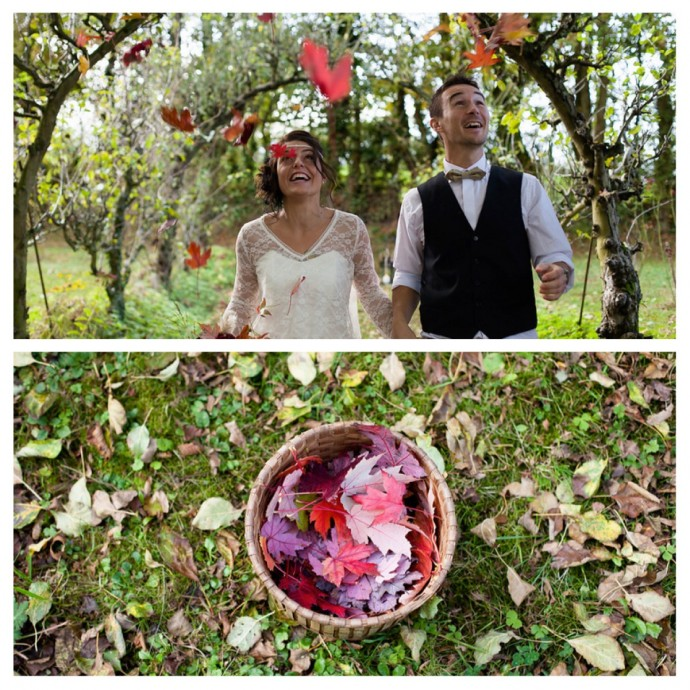 mariage automne couleurs shooting