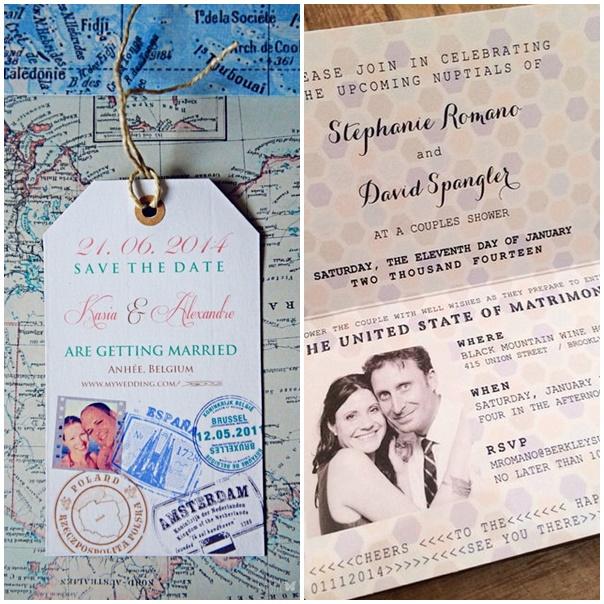 mariage invitation au voyage passeport faire part