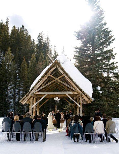 mariage montage ski neige