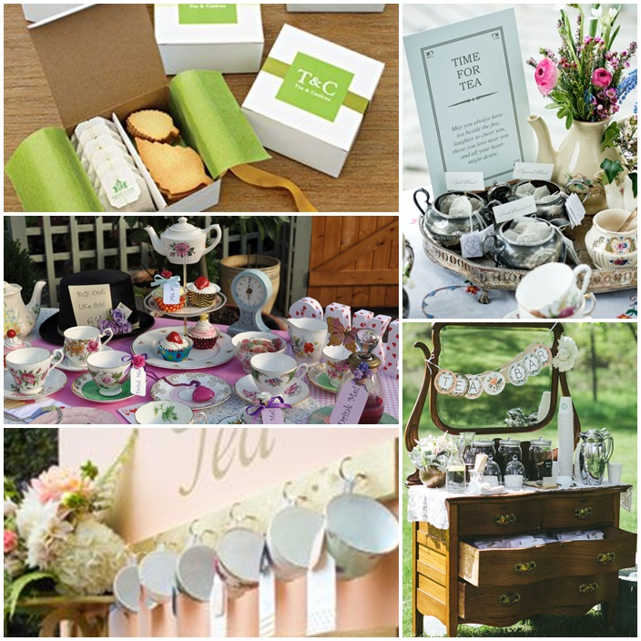 prendre son the au mariage sweet table