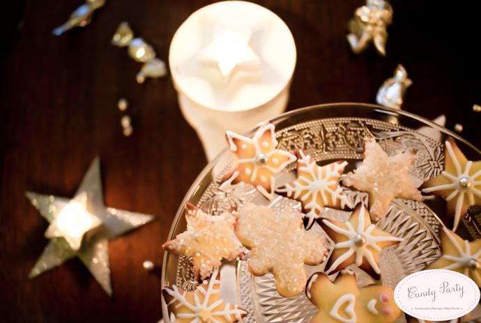 sweet table biscuits etoile noel