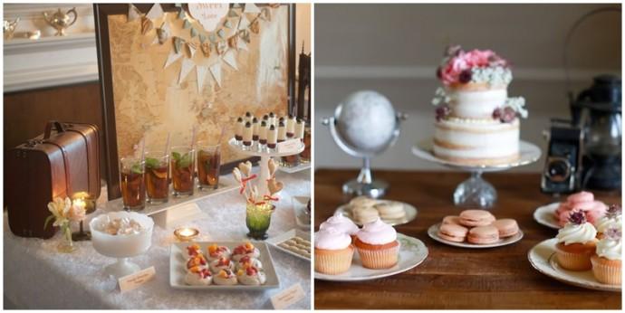 sweet table vintage mariage invitation au voyage