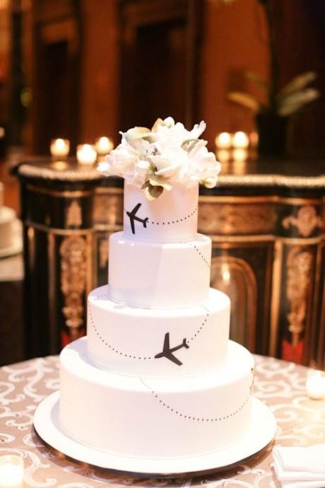 wedding cake mariage invitation au voyage