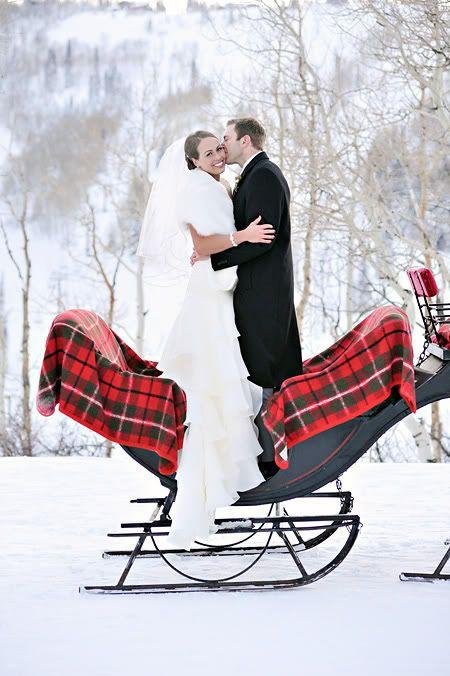 L'hiver, un thème de mariage romantique à souhait
