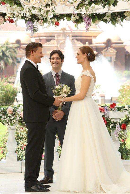 Ils se sont enfin dit oui !  Temperance et Booth, Bones, saison 9.