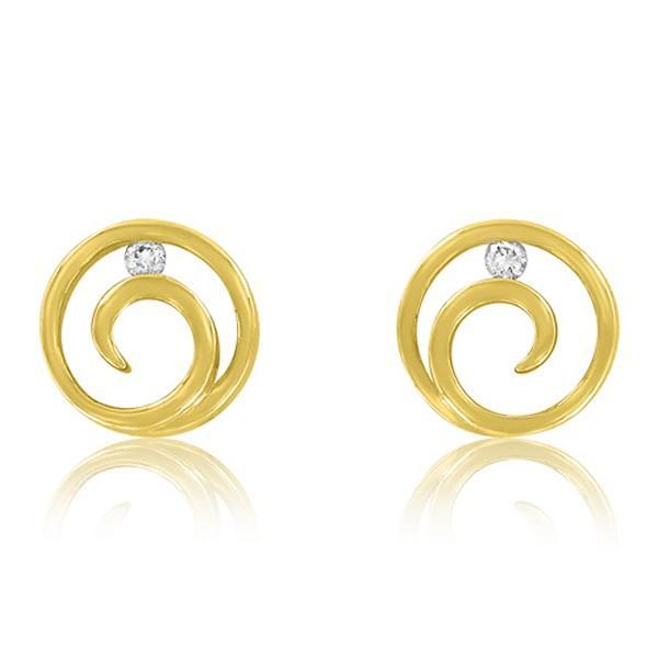 Dans une autre gamme de prix, on flashe sur ces puces d'oreilles. Une jolie spirale enserre un diamant : voilà un bijou de princesse ! Son nom ? « Rosée éternelle » : faites que notre mariage le soit aussi ! Boucles d'oreilles en or 18 carats et diamants, Adamence, 499 euros.