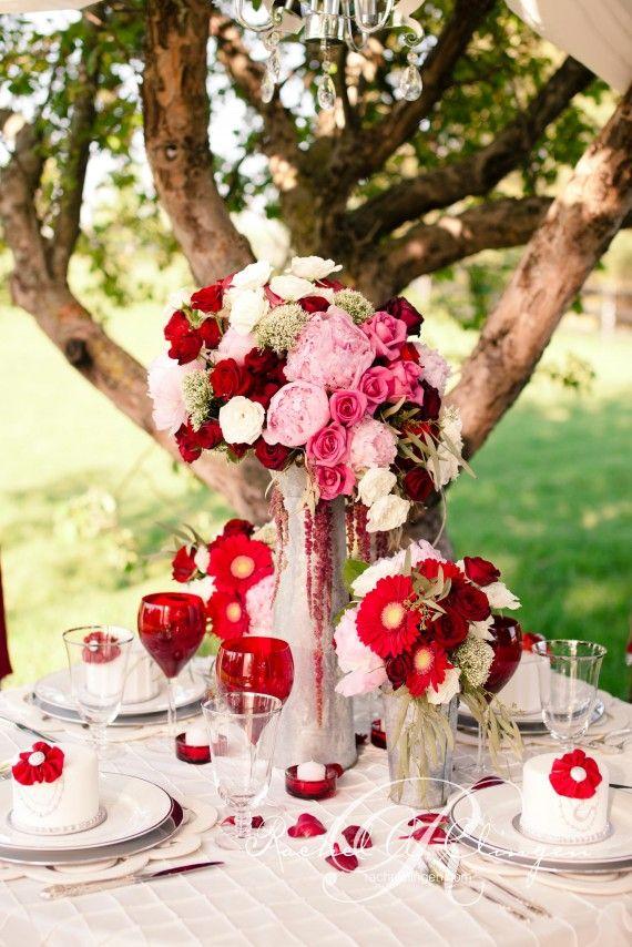 Centres de tables mariage st valentin 2