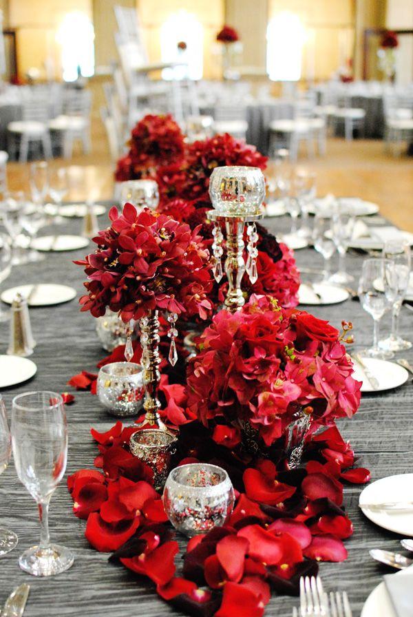 Centres de tables mariage st valentin 4
