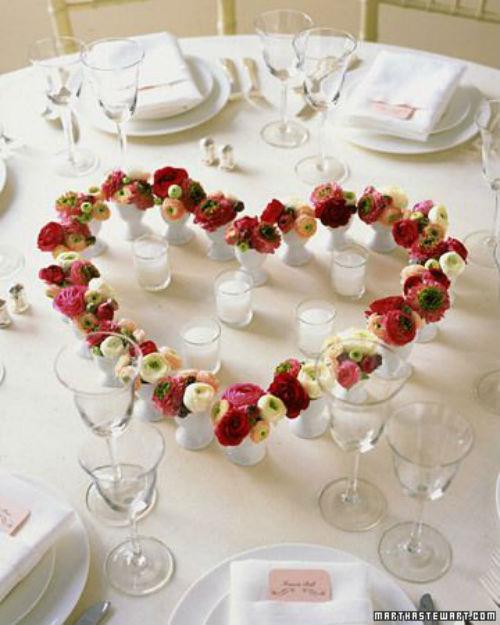Centres de tables mariage st valentin 5