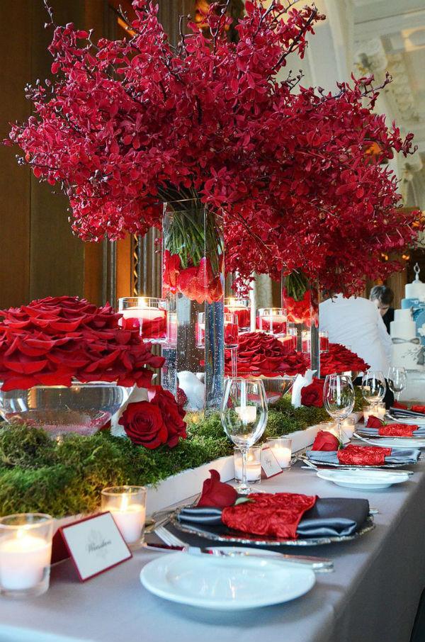 Centres de tables mariage st valentin 7