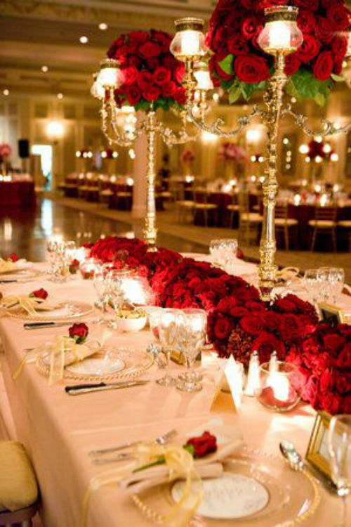 Centres de tables mariage st valentin 8