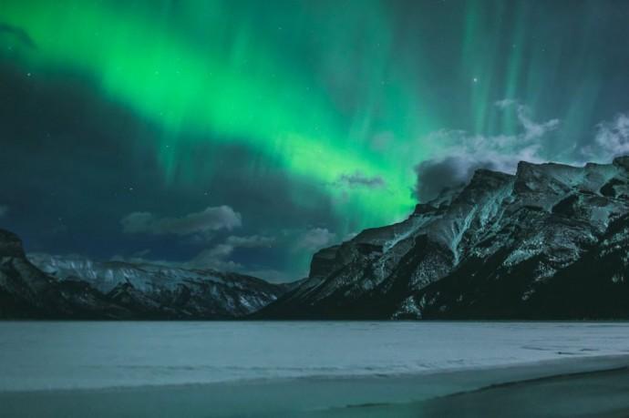 aurore boreale canada lune de miel hiver