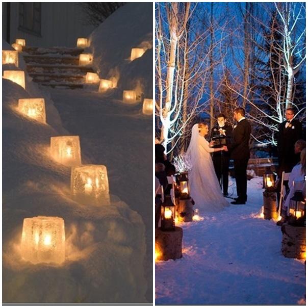 L 39 hiver un th me de mariage romantique souhait - Decoration mariage hiver ...