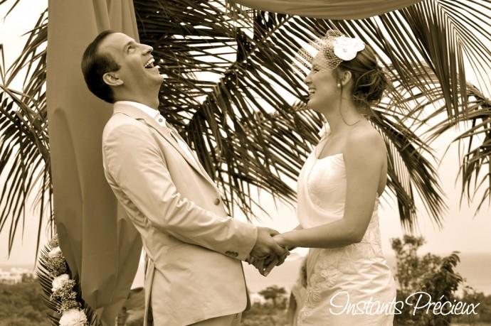 diane et mark mariage caraibes