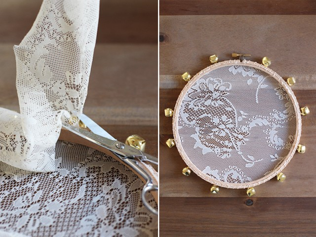 diy de tambourins en dentelle faites du bruit pour les mari s. Black Bedroom Furniture Sets. Home Design Ideas