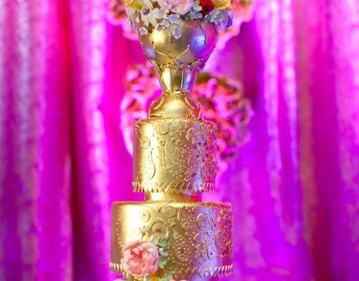 gateau de mariage indien
